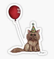 Kitty Celebration Sticker