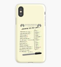 John McClane's To Do List iPhone Case
