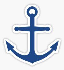 Dark blue anchor Sticker