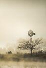 Windmill in the Fog by yolanda