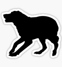 english springer spaniel dog silhouette sticker