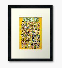 charlie brown yellow peanuts Framed Print