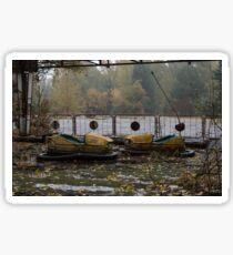 chernobyl pripayt bumper cars Sticker