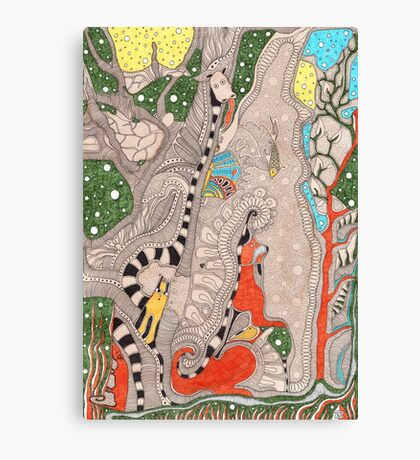 The forest. Animals familiar and unfamiliar. Canvas Print