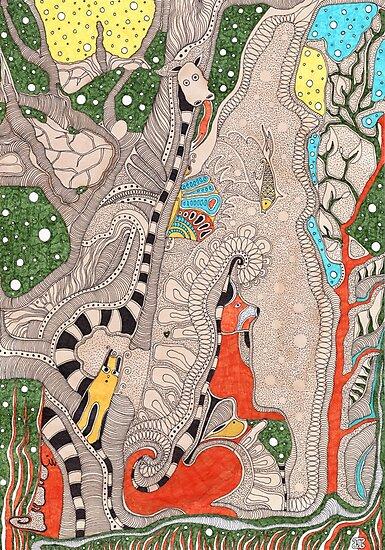 The forest. Animals familiar and unfamiliar. by Kseniya Beliaeva
