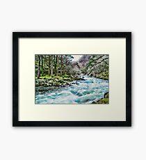 Blue Flowing Stream Framed Print
