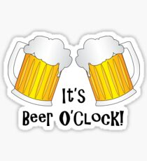 Beer O Clock Funny Oktoberfest Frothy Pint Glasses Sticker