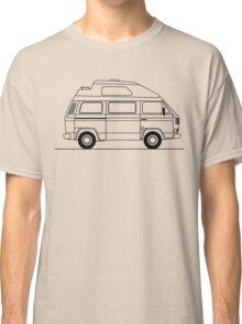 Transporter Hightop camper line art Classic T-Shirt