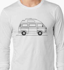 Transporter Hightop camper line art T-Shirt
