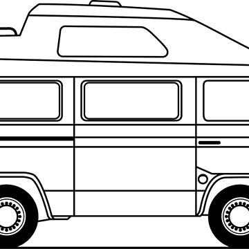 Transporter Hightop camper line art by diamondhell