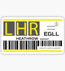 Destination London Heathrow Airport Sticker