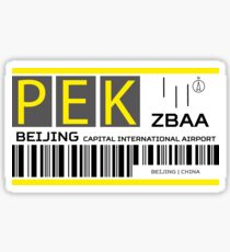 Destination Beijing Airport Sticker