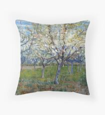 Vincent van Gogh The Pink Orchard Throw Pillow