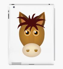 Horse face cartoon iPad Case/Skin