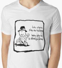 Baby Pilgrim Trombone Men's V-Neck T-Shirt