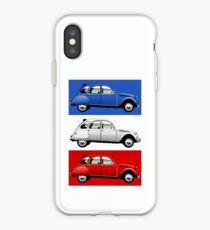 Citroën 2CV red, white and blue iPhone Case