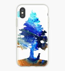 Contemplation - Dog Art Painting iPhone Case