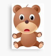 Cute Cartoon bear character Canvas Print