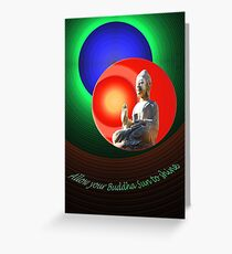 Buddha Sun Greeting Card