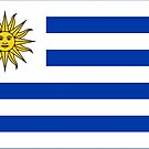 Uruguay Flag Stickers by Mark Podger
