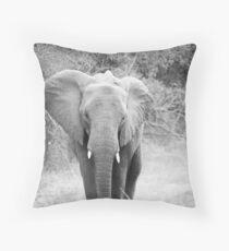 Black and white elephant Throw Pillow