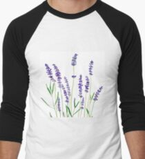 purple lavender  Men's Baseball ¾ T-Shirt