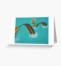 Fanciful Fluff and Feathers Greeting Card
