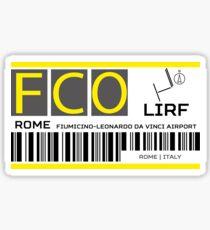 Destination Rome Airport Sticker