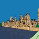 Houses of Parliament London by Ludwig Wagner
