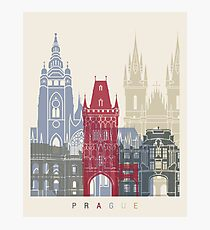 Prague skyline poster Photographic Print