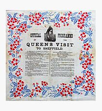 Official programme Queen's Victoria's visit to Sheffield, 1897 Photographic Print