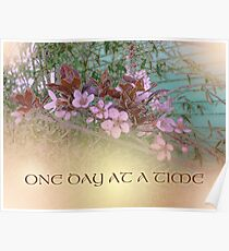 ODAT Plum Blossoms on Green Poster