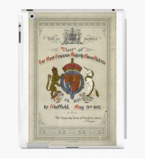 Programme for the visit of Queen Victoria to Sheffield, 1897 iPad Case/Skin