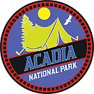 CAMPING ACADIA NATIONAL PARK TENT CAMP MAINE MOUNTAIN MOUNTAINS SUN by MyHandmadeSigns