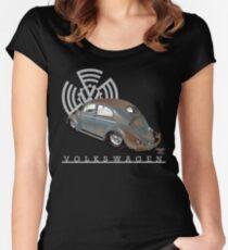 Split Window Bug Women's Fitted Scoop T-Shirt