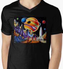 NEW WORLDS V-Neck T-Shirt