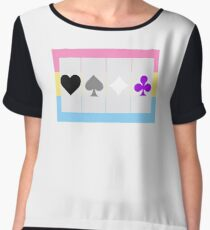 Ace symbols on Panromantic flag Women's Chiffon Top