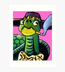 Turtle Pimp Art Print
