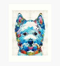 Colorful West Highland Terrier Dog Art Sharon Cummings Art Print