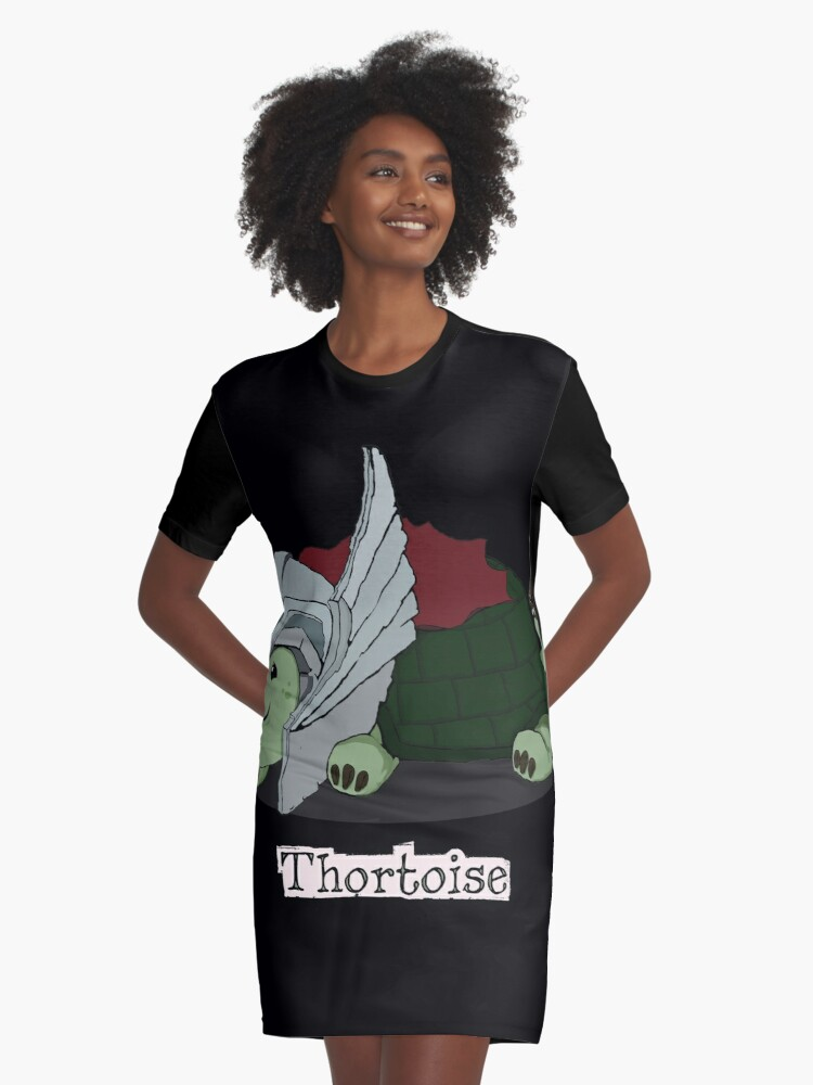 Thortoise Graphic T-Shirt Dress Front