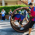 Barrel rolling competition, Paciano, Umbria, Italy by Andrew Jones