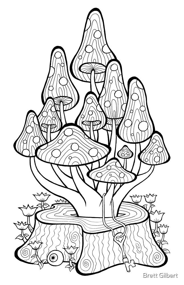 Mushroom Stump by Brett Gilbert