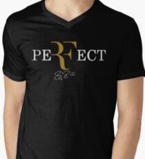 rf, roger federer, roger, federer, tennis, champion, wimbledon, tournament, sport, legend, australia, ball, signature, logo, symmbol. Men's V-Neck T-Shirt