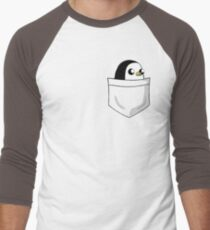 There's an evil penguin in my pocket! Men's Baseball ¾ T-Shirt