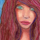 Oil Pastel Girl Portrait by dandyserenity