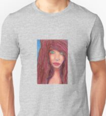 Oil Pastel Girl Portrait T-Shirt