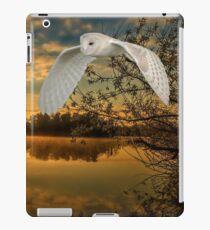 Barn owl sun rise iPad Case/Skin