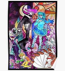 Mystery Skulls Animated Stained Glass Poster