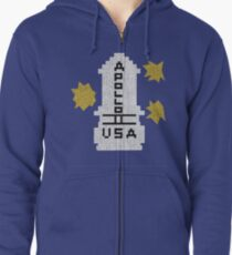 Hello Apollo 11 (The Shining) Sweater Texture 2 Danny Torrence Zipped Hoodie