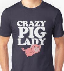 Verrückte Schweinedame Slim Fit T-Shirt